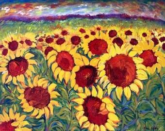Ceramic Trivet - Field of Sunflowers