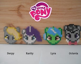 My Little Pony characters - Pearls - Pixel art - Hama Perler Beads - beads