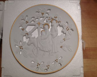 """Lenox Fine Porcelain The First Christmas Plate Collections """"Flight into Egypt"""""""