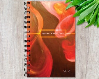 Weekly Planner 2018 - Inspirational Quotes - Organizer - Red Secret - Personalized Option