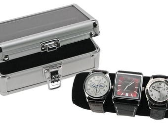 """Gifts for men,Aluminum case,Clock case,Wooden Box """"Case"""" for Handmade Wrist Watches.Caskets for watches,Caskets for jewelry,Jewelry boxes"""