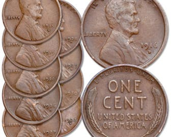 5 random US Wheat Pennys 1910-50's ALL mints Must have Dates!!!!!