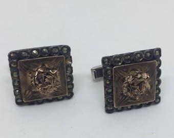 Vintage Rose Gold Cuff Links