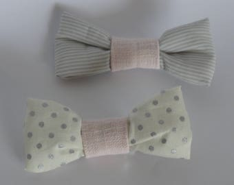 Hair bow on Alligator Clip