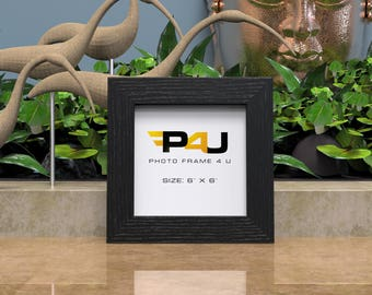 6x6 Photo Picture Frames Black White Oak Hang or Stand in both landscape and Portrait Orientation P4U