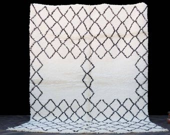 Beni Ourain Soft Rug - Moroccan Rug - 5x7 Area Rug - Berber White Rug - Handmade Rug - Handwoven Rug - Berber Carpet - Moroccan Carpet