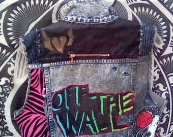 Off The Wall denim jean jacket.