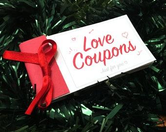 Love Coupons Vouchers For Her Him DIY Token Book Blank Template Girlfriend