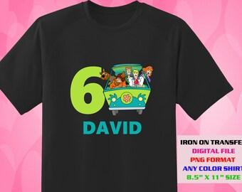 Scooby Doo Iron On Transfer , Scooby Doo , Birthday Shirt DIY Designs , Printable , Personalize Transfers , Digital Files