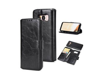Samsung Galaxy S8 Plus Leather Wallet Case, Leather S8 Wallet, S8 Plus Leather Case, Galaxy S8 Wallet Case, Samsung Galaxy S8 Cases - A24