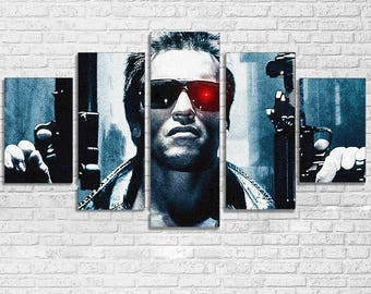 Terminator 5pc Wall Canvas
