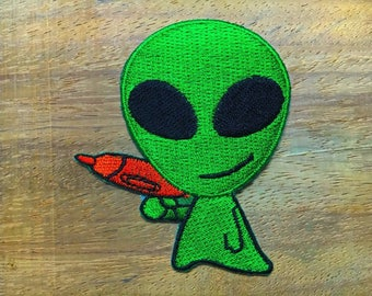 New Alien extraterrestrial ET ufo flying saucer applique iron-on patch