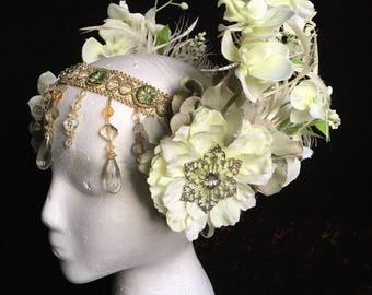 Green Goddess 3 Piece Headdress