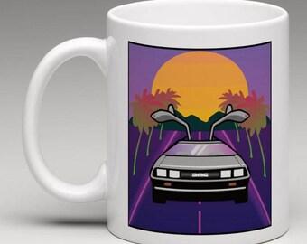 Retro DeLorean Mug