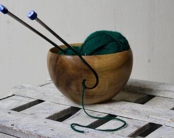 Wood yarn bowl Tulip Tree from Virginia