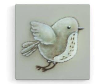 Bird 1 (left)-Children's room canvas 20 x 20 x 2 cm