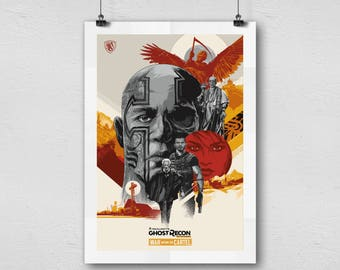 Tom Clancy's Ghost Recon Wildlands War within the Cartel video game home decor poster