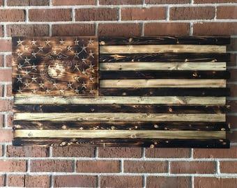 Wall Art, Wall Decor, Wood Signs, Wood Wall Art, Wooden Signs, Rustic Wall Decor, USMC, Marines, EGA, American Flag