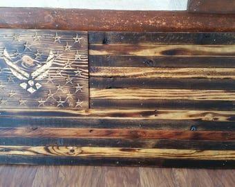 Wall Art, Wall Decor, Wood Signs, Wood Wall Art, Wooden Signs, Rustic Wall Decor, Airforce, American Flag