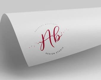 Customised Logo Design, Premade Logo, Business Image, Handwritten Elegant, Photography Logo, Wedding Monogram, Professional, Round Logo