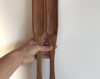 Wood Serving Tongs