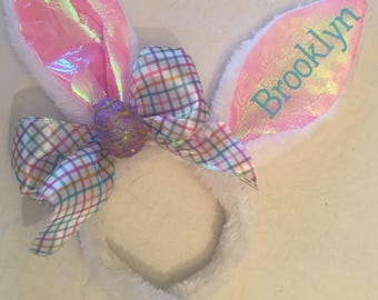 Personalized Bunny Ears Easter Headband **Free Shipping**