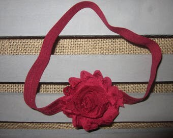 Maroon Floral Headband for Baby