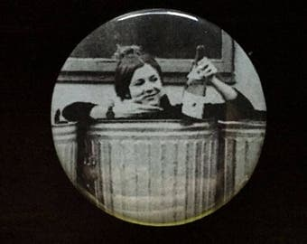 Carrie Fisher in a Garbage Can Pin