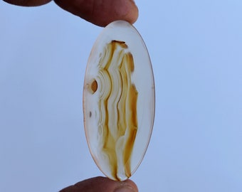 36 Cts Natural Top Quality Montana Agate Gemstone Cabochon Oval Shape 45x20x5 MM T442