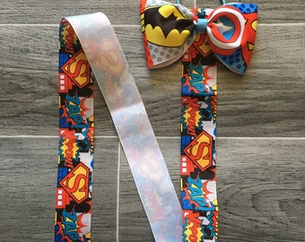 Superhero themed bow hold, bow organiser,