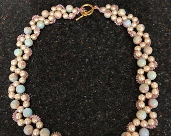 Aquaterra Jasper and Glass Stone Beaded Necklace