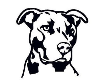 Pitbull Sticker Outline Vinyl Decal
