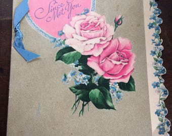 Early 1950s Used American Greeting Valentine Card To My Husband