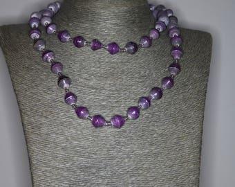 Paper Bead Necklaces.