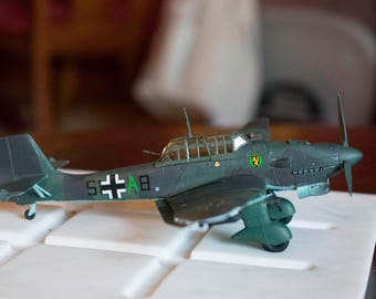 Junkers Ju 87R-2 Stuka 1/72 Scale Built Plastic Model