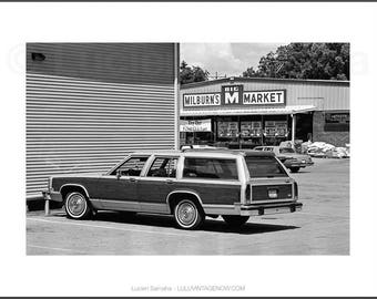 Black and White Photograph - Milburn's Country Squire
