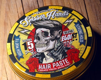 Man hair paste 3.33 OZ. 100ML Wax clay. Manly hair wax genuine organic materials with satisfying flavor. Pure manly materials made for style