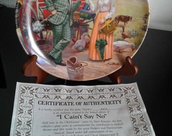 """Edwin M. Knowles """"I Cain't Say No""""  Collector's Plate  # 1837A"""