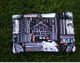 Ewok wicket princess Leia star wars print large make up bag