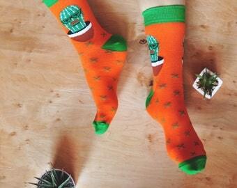 Mr. Cactus Socks | Colorful Socks | Unique Socks | Men Socks | Women Socks | Soberay