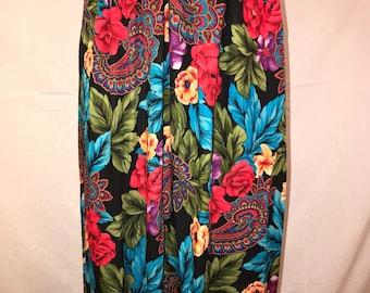 Vintage Floral & Paisley skirt