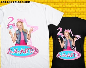 Jojo Siwa / Iron On Transfer / Jojo Siwa Birthday Shirt Transfer DIY / Jojo Siwa High Resolution 300 DPI / Jojo Siwa Digital Files