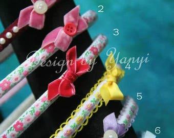Handmade headband decorated with velvet ribbon
