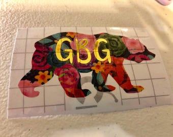 Custom Bear Sticker - Pack of 6