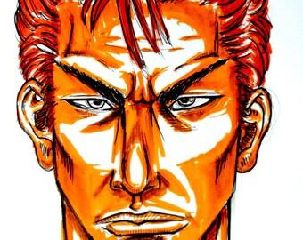 Hanamichi Sakuragi, Takehiko Inoue Shohoku basketball, illustration, drawing, manga, slam dunk