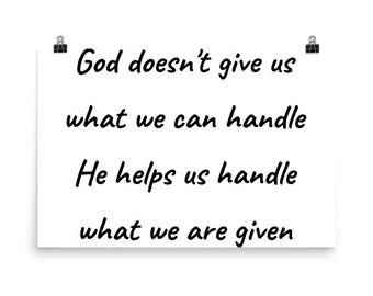 God helps us Poster
