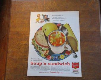 1961 Original Vintage Campbell's Soup ad