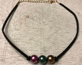 Mardigras pearl choker, pearl choker, pearl necklace