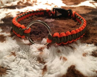 Paracord collar w/saftey ring (non adjustable)