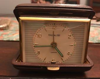 TimeMaster Luminous Vintage Travel Alarm Clock